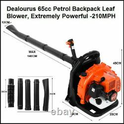 2-Stroke 65CC Leaf Blower 2.3HP High Performance Gas Powered Back Pack US Stock
