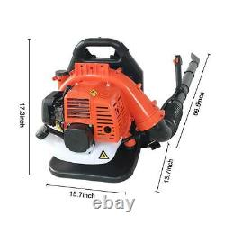 32CC 2Stroke Powered Gas Backpack Leaf Blower with Padded Harness EPA USA