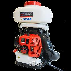 3.7 Gallon Gas Backpack Fogger Sprayer Duster Leaf Blower Mosquito Insecticide