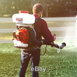 3.7 Gallon Gas Power Backpack Fogger Sprayer Duster Leaf Blower Mosquito Control
