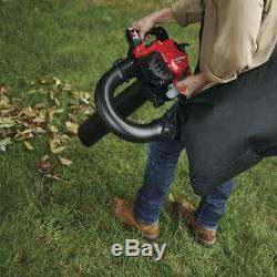 450 CFM 27cc 2 Cycle Gas Leaf Blower Vacuum Kit Mulcher High Volume Yard Cleaner