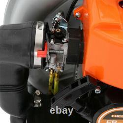 63CC 3HP 2Stroke Gas Backpack Leaf Blower Powered Debris Padded-Harness