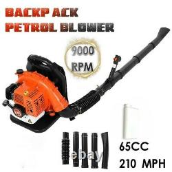63cc 2.3hp 2-Stroke Gas Powered Back Pack Leaf Blower High Performance US