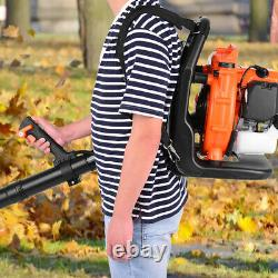 63cc 2-Stroke 3hp High Performance Gas Powered Back Pack Leaf Blower US Stock