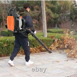 63cc 2 stroke Gas Commercial Leaf Backpack Blower Outdoor Yard Garden Sweeper US