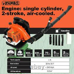 65CC 2-Stroke Leaf Blower 2.3hp High Performance Gas Powered Back Pack US Stock