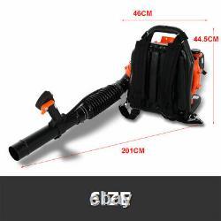 65CC 3.2HP 2-Stroke Gas Powered Backpack Leaf Blower Debris Padded-Harness 2.3KW