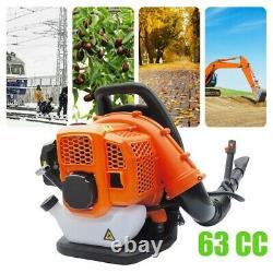 665CFM Backpack Leaf Blower 63cc 3.0HP Gas Powered Back Pack Leaf Blower2-STROKE