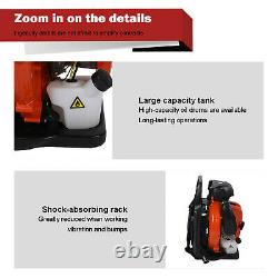 80CC 2-Stroke Back Pack Leaf Blower High Performance Gas Powered 2.3L US Stock