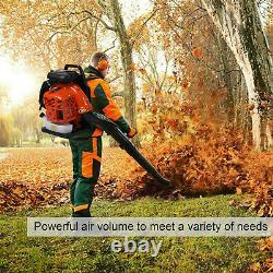 80CC 2-stroke High Performance Gas Powered Back Pack Leaf Blower US Stock