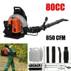 80CC 2-stroke Motor Gas Backpack Powerful Blower Leaf Blower 850 CFM US Stock