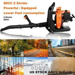 80CC 2stroke Backpack Powerful Blower Leaf Blower Motor Gas 850 CFM US Stock