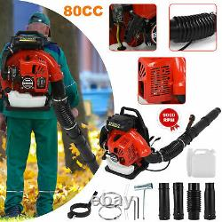 80CC Backpack Leaf Blower 3500W 2-Stroke Gas Powered High Performance 900 CFM