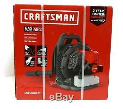 CRAFTSMAN 46-cu cm 2-Cycle 220-MPH 490-cfm Gas Backpack Leaf Blower cmxgaah46bt