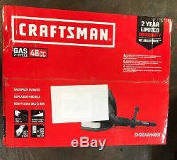 CRAFTSMAN 46cc 2-cycle 220MPH 490CFM Gas Backpack Leaf Blower CMXGAAH46BT