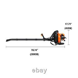 Commercial Backpack Leaf Blower Gas Powered Grass Lawn Blower 2 Stroke 52CC