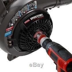 Craftsman 27cc Gas Leaf Blower with Vacuum Kit 450 CFM 205 MPH Easy Starts