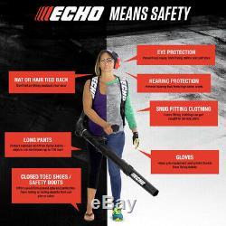 ECHO Backpack Leaf Blower 158 MPH 375 CFM 25.4 cc Gas 2-Stroke Cycle Lightweight