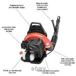 ECHO Backpack Leaf Blower 63.3 cc. Gas 2-Stroke Cycle Tube Throttle