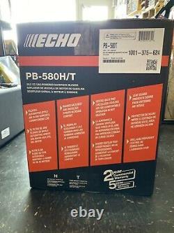 Echo PB-580H/T 58.2 CC Gas Powered Backpack Blower NIB