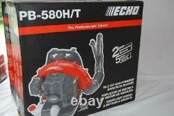 Echo PB-580T 517 CFM 58.2 cc Gas 2-Stroke Cycle Backpack Leaf Blower with Tube Tr