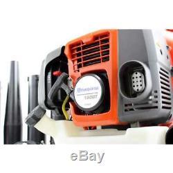 HUSQVARNA 150BT 50CC 2 Cycle Gas Leaf Lawn Backpack Blower 180 MPH (Open Box)