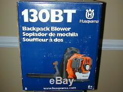 Husqvarna 130BT Backpack Gas Powered Leaf Lawn Grass Blower 1.3HP New-Not Refurb