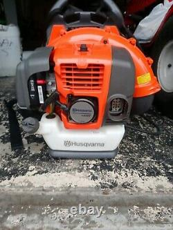 Husqvarna 150BT 50cc 2 Cycle Gas Commercial Leaf Backpack Blower, Harness (Used)
