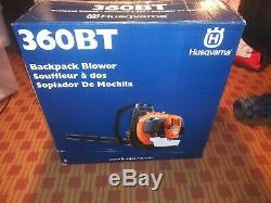 Husqvarna 360BT 65.6cc 2-Cycle 232 MPH Commercial Gas Leaf Blower Backpack