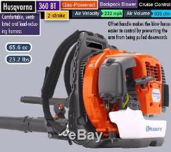 Husqvarna 360BT 65.6cc Backpack Leaf Blower