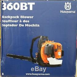 Husqvarna 360BT 6-cc 2-Cycle 232-MPH 890-CFM Gas Backpack Leaf Blower NEW