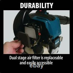 MAKITA Gas Leaf Blower Handheld Quiet 145MPH Easy Start Adjustable Speed 4 Cycle