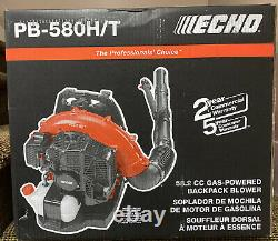 NEW ECHO 216 MPH 517 CFM 58.2cc Gas Backpack Blower With Tube Throttle PB-580H/T