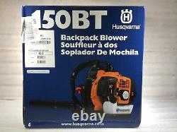 NEW Husqvarna 150BT 50-cc 2-Cycle 251-MPH 692-CFM Gas Backpack Leaf Blower