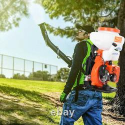 NEW With3.5 Gallon Tank 65cc 2Stroke Gas Backpack Leaf Blower Fogger Blower Duster