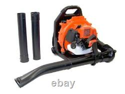 New 3.2HP 52CC 2Stroke Gas Leaf Backpack Blower Power Debris with Padded Harness
