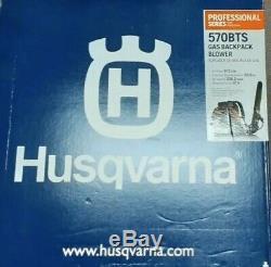 New Husqvarna 570BTS 66.6cc 2-Cycle Gas Backpack Leaf Blower 236 MPH 972 CFM