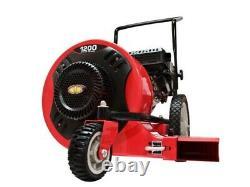 New Walk Behind Leaf Blower Gas Powered Lawn Sweeper 1200 CFM 150 MPH