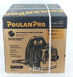 Poulan Pro PR46BT, 46cc 2-Cycle Gas 475 CFM 200 MPH Backpack Leaf Blower NEW