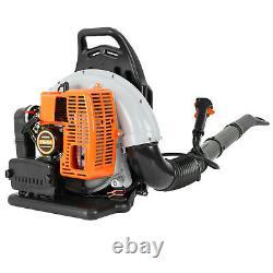 Powerful 80cc 2-Cycle Motor Gas 850 CFM 230 MPH Backpack Leaf Blower Orange