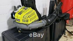 RYOBI 185 MPH 510 CFM Gas Backpack Leaf Blower BP42 with Bagger