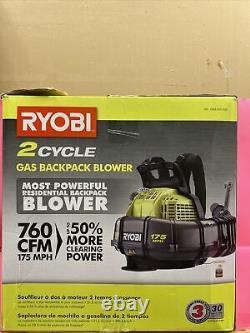 RYOBI Gas Backpack Blower 38cc 175MPH 760 CFM Antivibration Adjustable Speed455