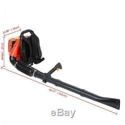 Ridgeyard 51.7 cc Gas Backpack Leaf Blower Blower Two-stroke Air-cooled Garden