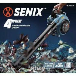 Senix Leaf Blower 26.5 cc Gas 4-Cycle Handheld Interchangeable Nozzle Connection