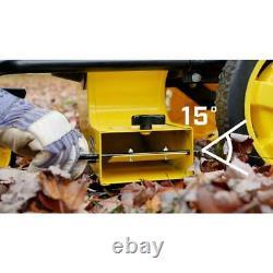 Walk Behind Gas Leaf Blower Cordless Power Tool Outdoor Swivel Front Wheel Yard