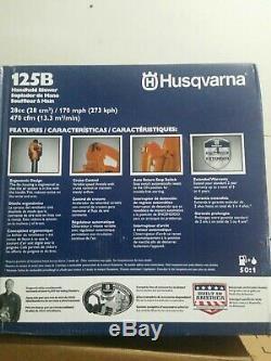 125 B Husquavarna Main Gaz Souffleur De Feuilles Tenue Nouveau Dans Le Moteur Boîte 28cc 470cfm 170 Mph