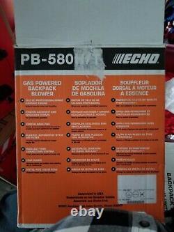 2019 Echo Pb-580t 58.2cc Gaz Souffleur À Dos De Qualité Professionnelle