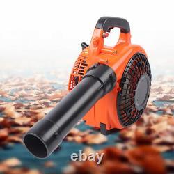 2-stroke Handheld Leaf Blower Gas Cycle Commercial Nettoyage De La Cour D'herbe Lourde