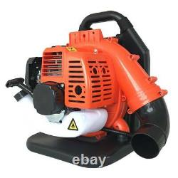 32cc Gas Backpack Leaf Blower 2 Stroke Powered Debris With Padded Harness Epa