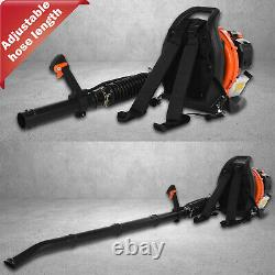 3.2hp Gas Backpack Leaf Blower 63cc 2 Stroke Powered Debris Withpadded Harness Epa